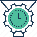 cogwheel, data management, data processing, management, time management icon