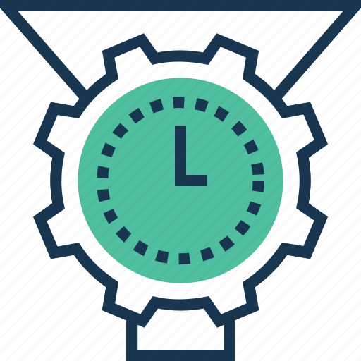 cogwheel, data management, data processing, management, time management icon