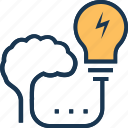 business idea, generate idea, idea, idea develop, stimulation icon