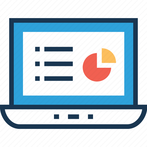 business report, economy graph, online state, pie graph, project economy icon