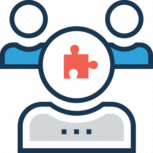 group, leader, project team, puzzle, team leader icon