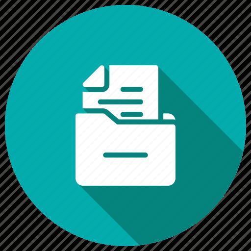 box, cabinet, drawer, files, storage icon