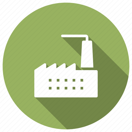 building, factory, industrial, plant icon