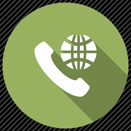 call, global, international, world icon