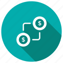 cash, dollar, exchange, money, payment, price icon