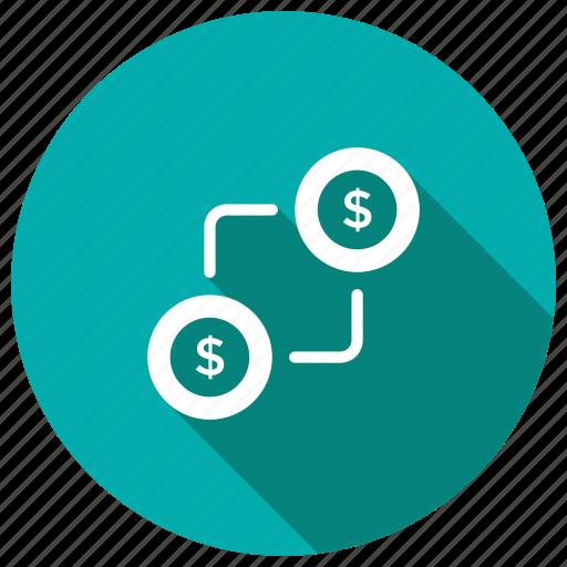 cash, dollar, exchange, money, payment, price icon