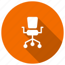 chair, furniture, interier, office, seat icon