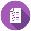 checklist, checkmark, survey, verify icon