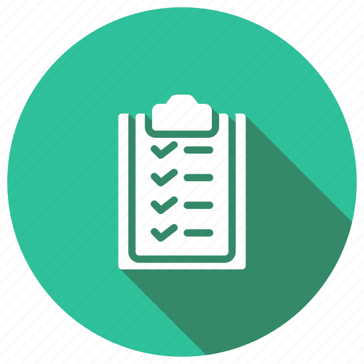 checklist, clipboard, form, office icon