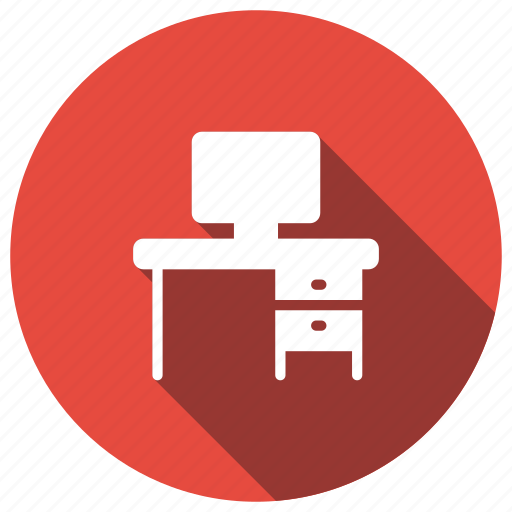 computer, desk, office, table icon