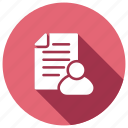cv, document, file, form icon