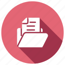 document, file, folder, record icon