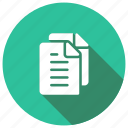 documents, files, information, storage icon
