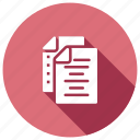 documents, information, records, storage icon
