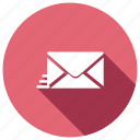 e, fast, mail, message, sending icon