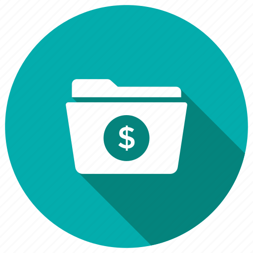 files, finance, folder, money icon
