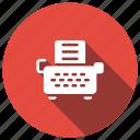 article, keyboard, text, typewriter icon