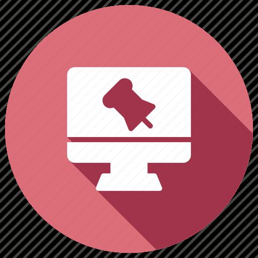 attach, attachment, pagepin, screen icon