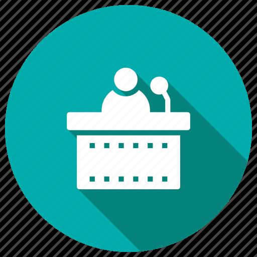 lecture, presentation, speach, training icon