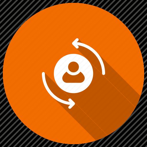 account, profile, refresh, reload icon