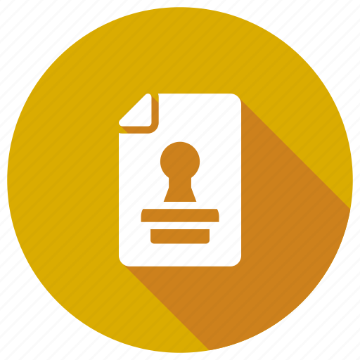 approved, file, page, stamp icon