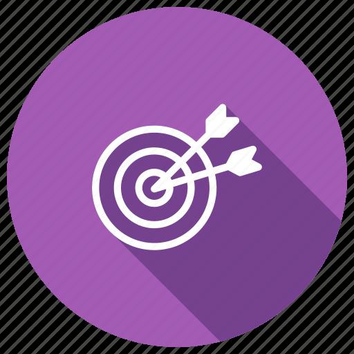aim, fosuc, goal, success, target icon