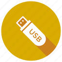 drive, flash, memory, portable, usb icon