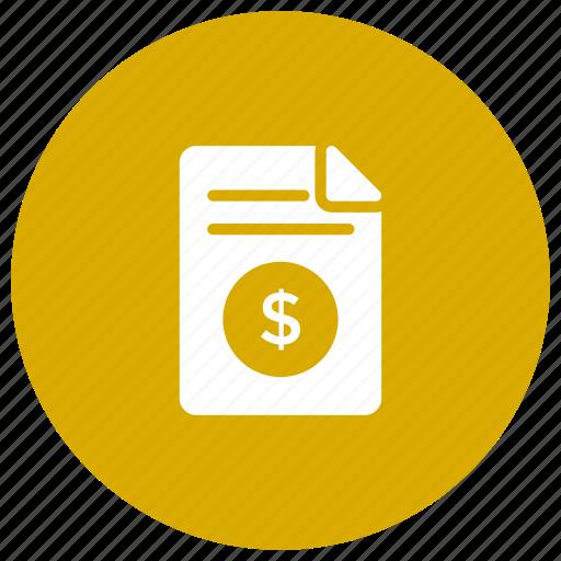 bill, document, invoice, tax icon