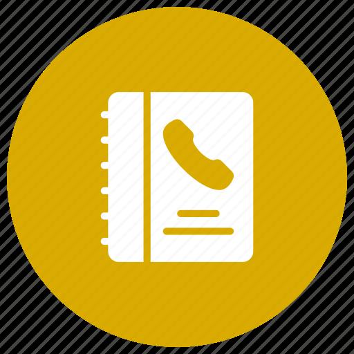 book, call, contact, phone, talk icon
