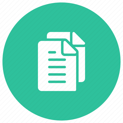 documents, files, information, storage icon