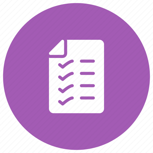 checklist, checkmark, survey, verify icon