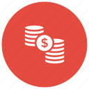 cash, coins, finance, money, profit icon