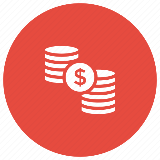 cash, coins, finance, money, profit icon