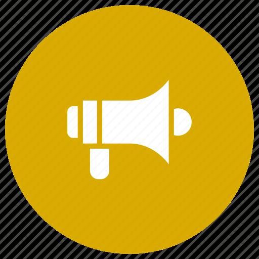 advertisement, announcement, marketing, megaphone, speaker icon