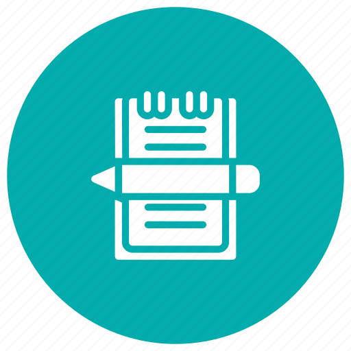 edit, notebook, notepad, write icon