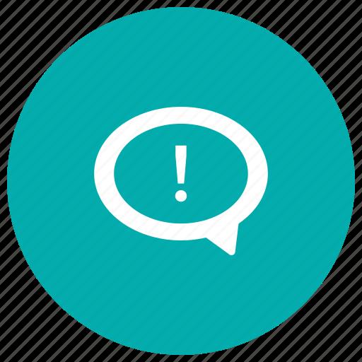 alert, attention, error, notice, notification icon