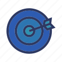 business, finance, goal, office, target icon