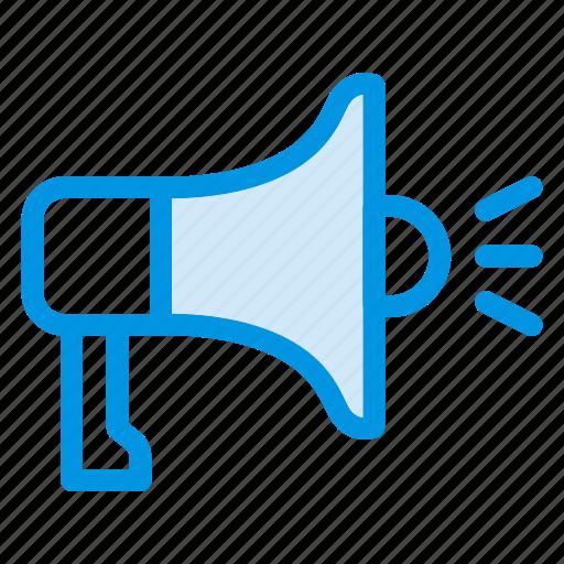 advertising, announcement, marketing, megaphone, speaker icon