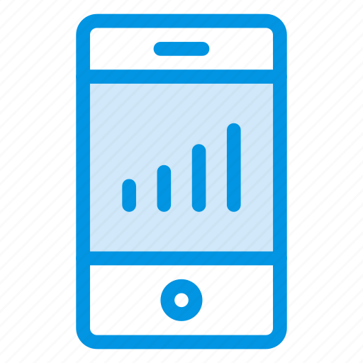 analytics, graph, mobile, phone, report icon
