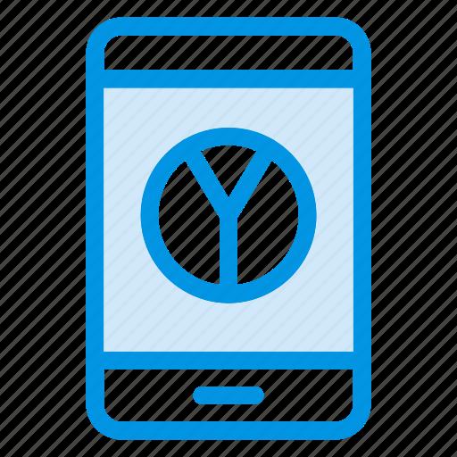 analytics, graph, mobile, report icon