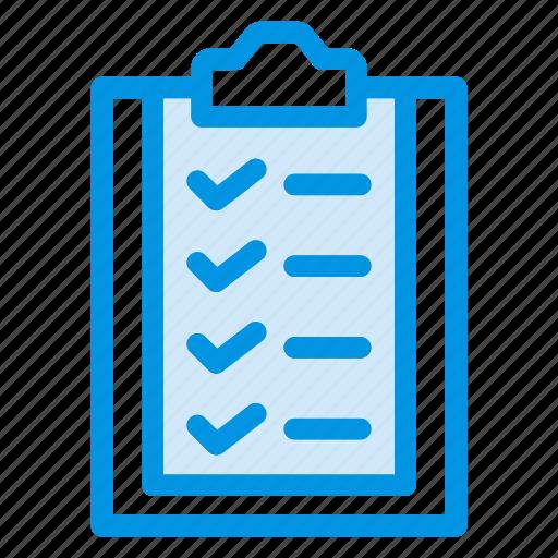 checklist, clipboard, form, office icon