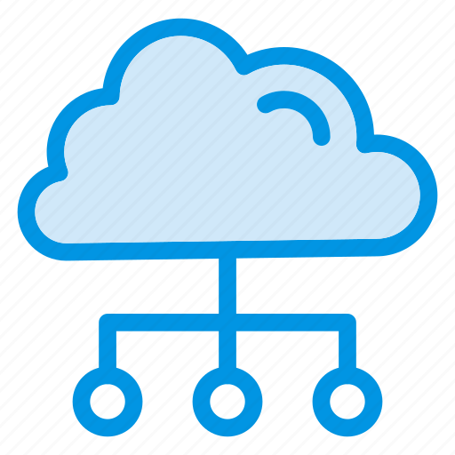 cloud, communication, connect, network, servers icon