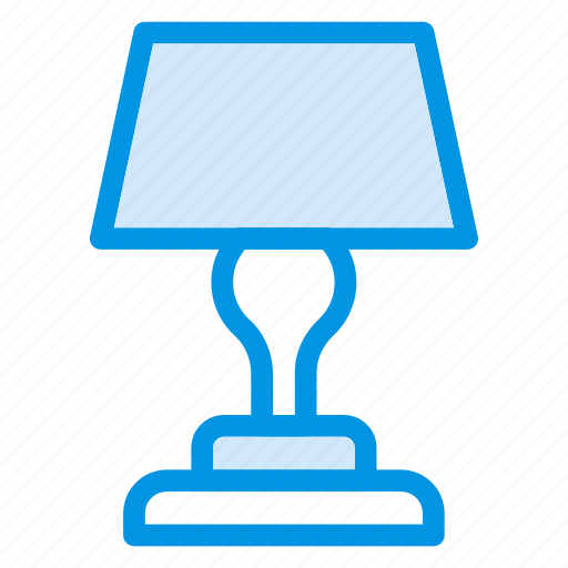 bulb, lamp, shine, table icon