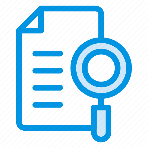 document, file, find, page, search icon