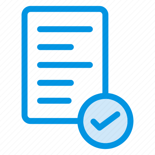 check, document, file, page, text icon