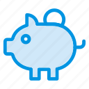 bank, cash, piggybank, savings icon