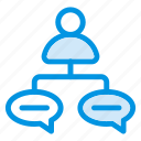 chat, comment, communication, notification, user icon