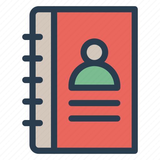 addressbook, book, contact, contactlist icon