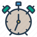 alarm, alert, attention, clock, deadline icon