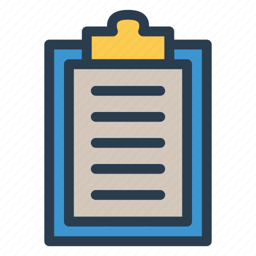 audit, clipboard, contract, list icon